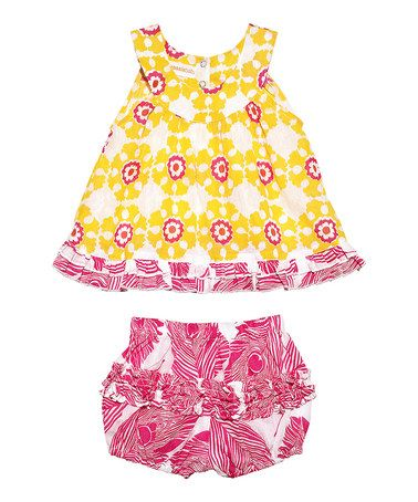 Take a look at this Yellow Rhythm Boondi Dress & Bloomers - Infant by Masala Baby on #zulily today!