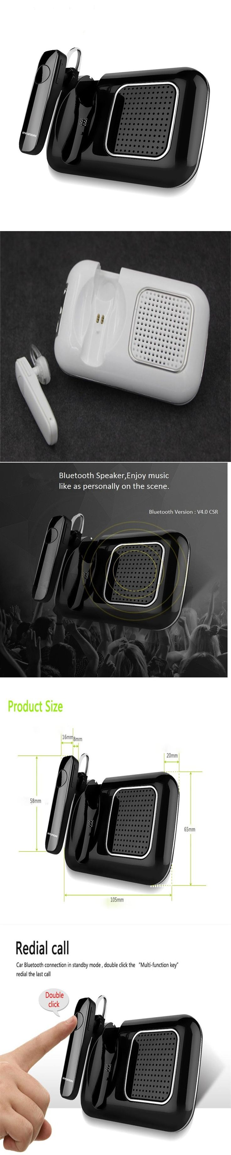 2017 New Bluetooth Car Kit Smart Car Bluetooth Handsfree Speaker Earphone For IOS Android Phone Sun Visor Portable Car Audio