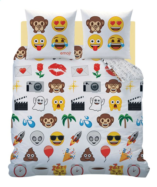 Ben jij ook gebeten door de emoji-microbe? Dan is dit grappige, flanellen dekbedovertrek Emoji World 200 x 200 cm echt iets voor jou.