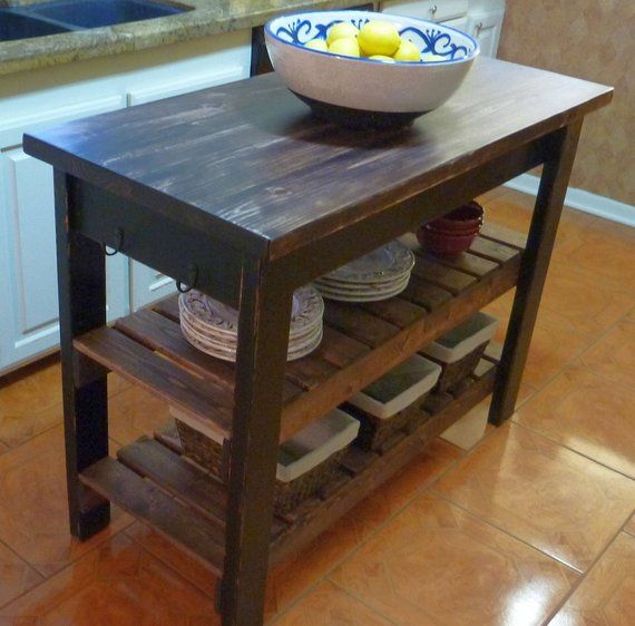 Custom Hand Built Kitchen Island Made To Order Free Shipping In 2020 Build Kitchen Island Primitive Kitchen Diy Kitchen Cart
