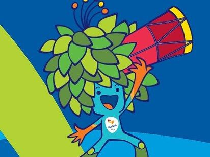 "This funny buddy is the mascot for the 2016 Paralympics. He is ""a magical creature, mixing all the plants of the Brazilian forests."" 