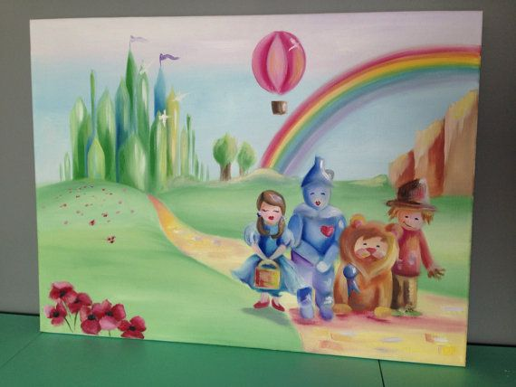 Wizard Of Oz Painting For Nursery Or Childu0027s Room Part 65