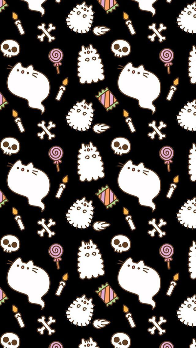 Pusheen Pusheencat Halloween Spookyseason Ghost Cat Candy