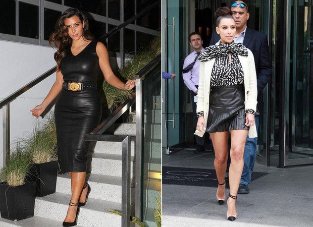 Kim Kardashian elege couro como material favorito do dia-a-dia e desmistifica uso em corpos curvilíneos Chic - Gloria Kalil
