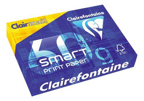 Ramette papier faible grammage Clairefontaine Smart Print A4 50 gr - 500 feuilles - blanc