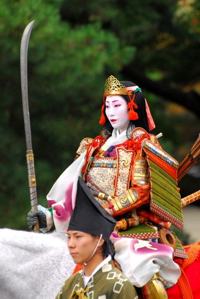 Lady warrior at Jidai Festival, Kyoto, Japan: photo by デジカメ自由人
