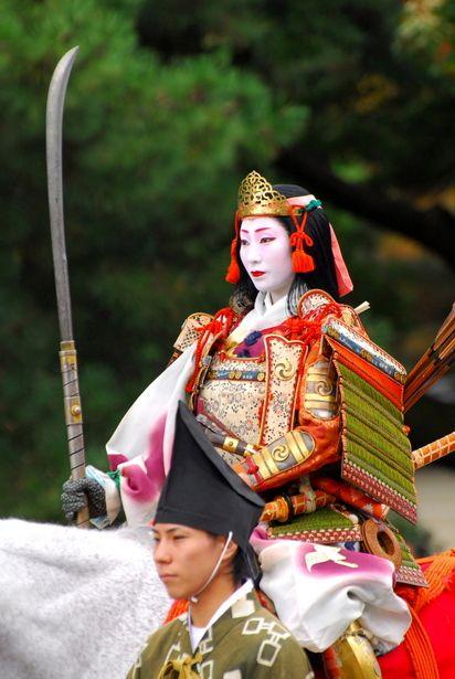 A Woman Warrior at Jidai Festival, Kyoto, Japan: photo by デジカメ自由人