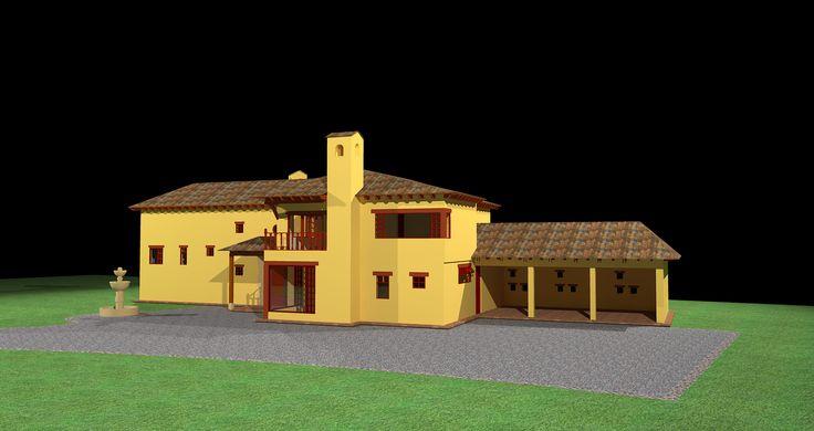 Diseño Alvaro Galindo Vácha Dibujo Casa Santa Clara