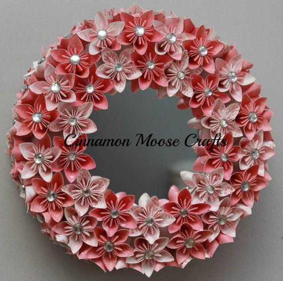 Mirror Wreath by CinnamonMooseCrafts on Etsy