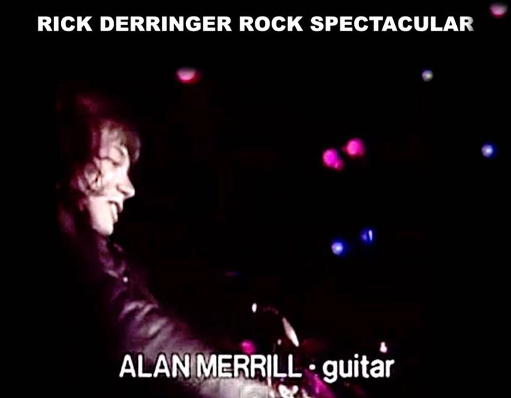 "Alan Merrill in the film ""The Rick Derringer Rock Spectacular"" Sony pictures 1983."