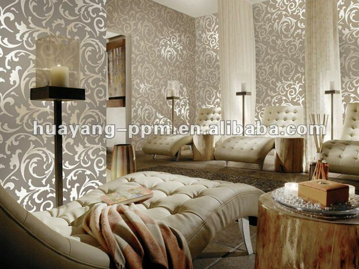 Shiny And Matte Wallpaper Bedroom