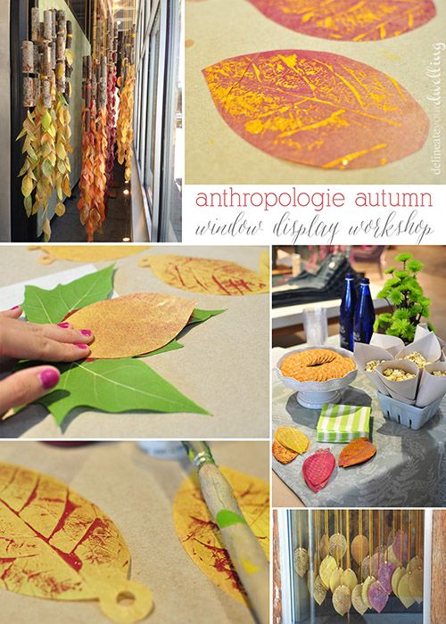 Leaf Press, Anthropologie Autumn Window Display / Delineate Your Dwelling