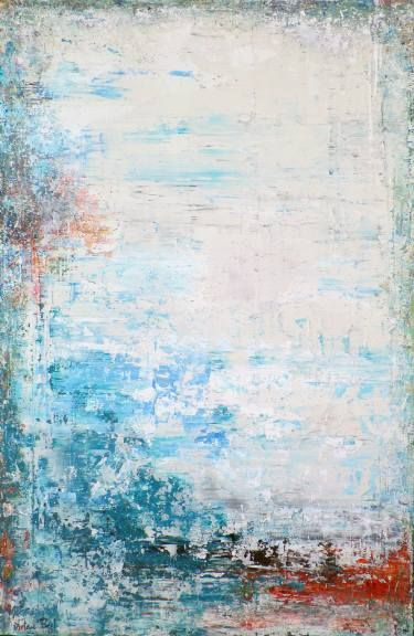 Solid Teal by Artem Bryl. Acrylics on wood,  120 X 79 cm. #teal #wood