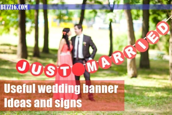50 Useful wedding banner Ideas and signs | http://buzz16.com/useful-wedding-banner-ideas-and-signs/