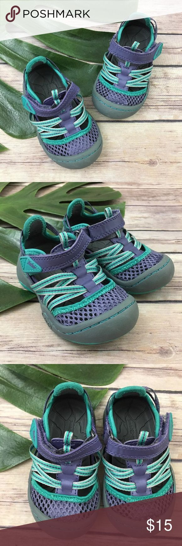 Jambu toddler girls Purple & Teal walking shoes Jambu toddler girl's water shoes, size 4. They are free from any rips or stains. Jambu Shoes Baby & Walker