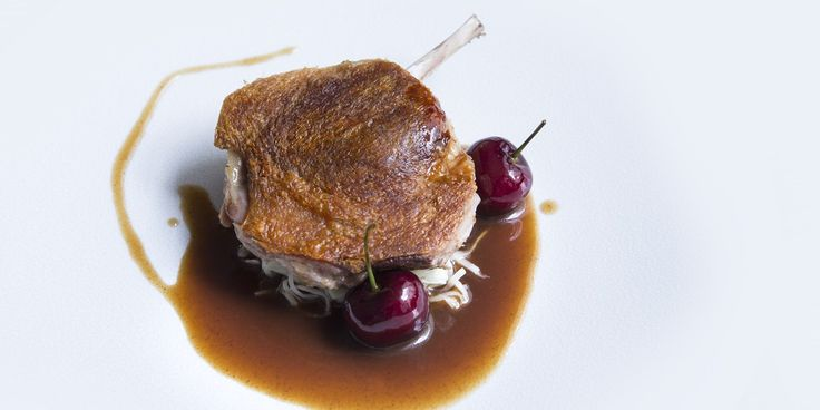 In this delicious Agnar Sverrisson recipe, duck legs are cooked sous vide to ensure perfectly cooked, tender meat. To contrast the rich flavour of the duck, the chef adds sweet and sour celeriac choucroute, bulgur wheat and fresh cherries