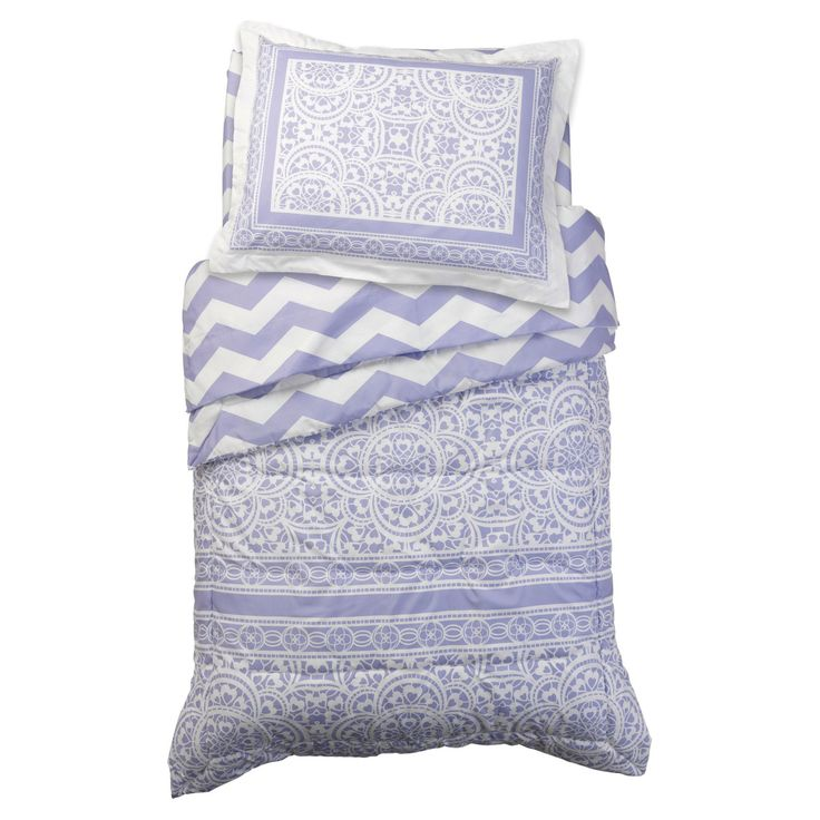 4 Piece Lace and Chevron Comforter Set by KidKraft - 77030