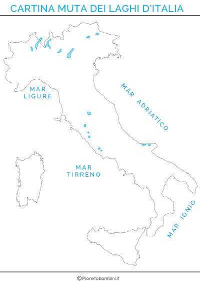 Cartina dei laghi d italia in versione muta o completa for Disegni di laghi