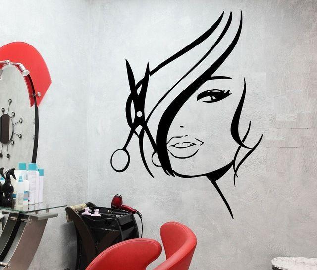 Pegatinas de pared de vinilo decoracion del pelo belleza for Pegatinas vinilo decoracion