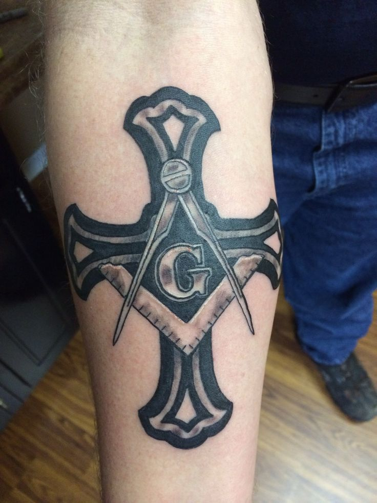 Masonic Knights Templar tattoo