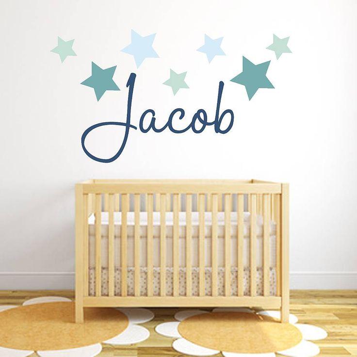 star name fabric wall sticker by littleprints | notonthehighstreet.com