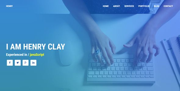 cool Henry - Individual HTML Portfolio (Portfolio)