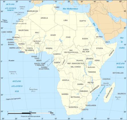 Africa mapa de paises