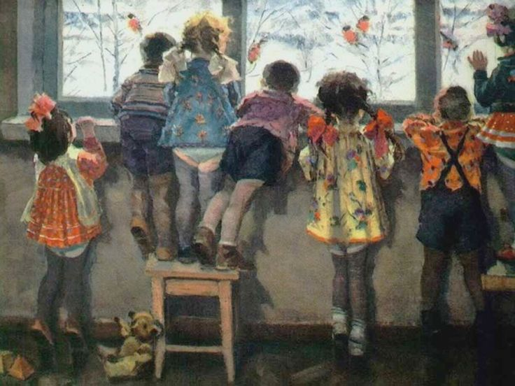 """Николай Ульянов """"Снегири. Детский сад"""", 1964 год"""