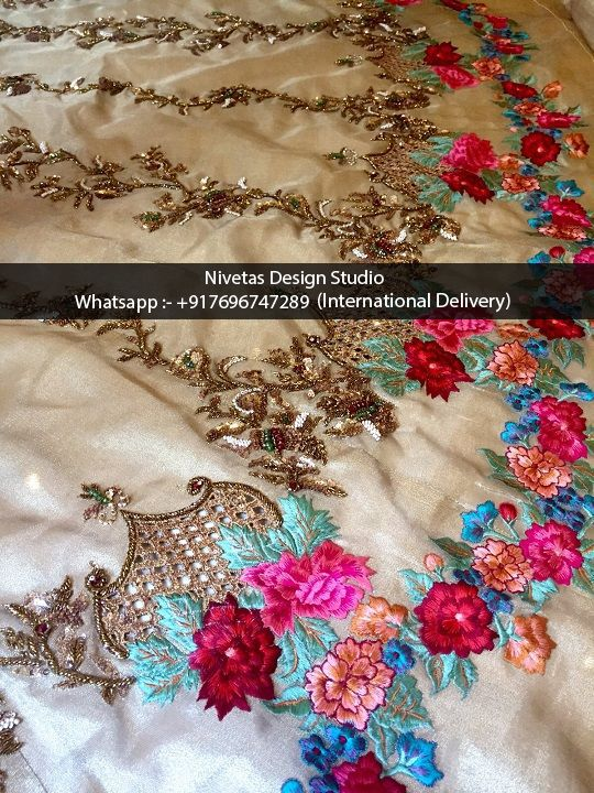 Embroidery - whatsapp +917696747289 offering Haute Couture zardozi Embroidery Services to boutiques and retail clients over seas, include cocktail, party wear evening parties dress embroidery work, sarees, punjabi salwar suit, gowns, lehengas, bridal outfits, kaftan and on decorative items #canada #embroidery #custommadeEmbroidery #embroidery #work #bridalLehengas, #Hand-embroidery, #custom-embroidery-work #gotta-pati-embroidery #zardozi #NivetasDesignStudio #NDS #dabka