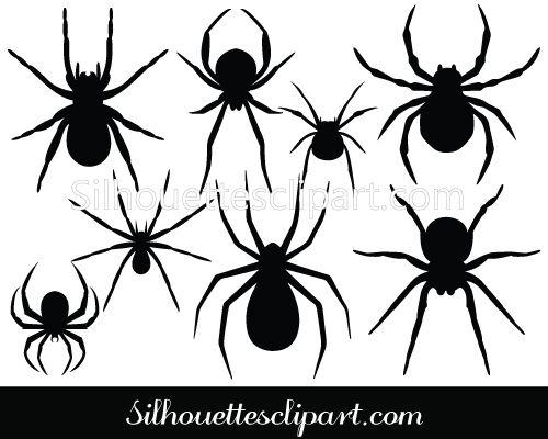 halloween spider vector graphics silhouette clip art - Halloween Graphics Clip Art