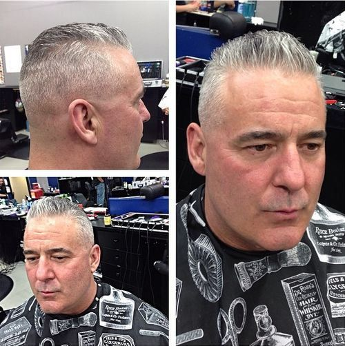 stylish tapered haircut for older men