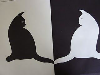 (Him) positive/ (ME) negative space. We are alike and different.