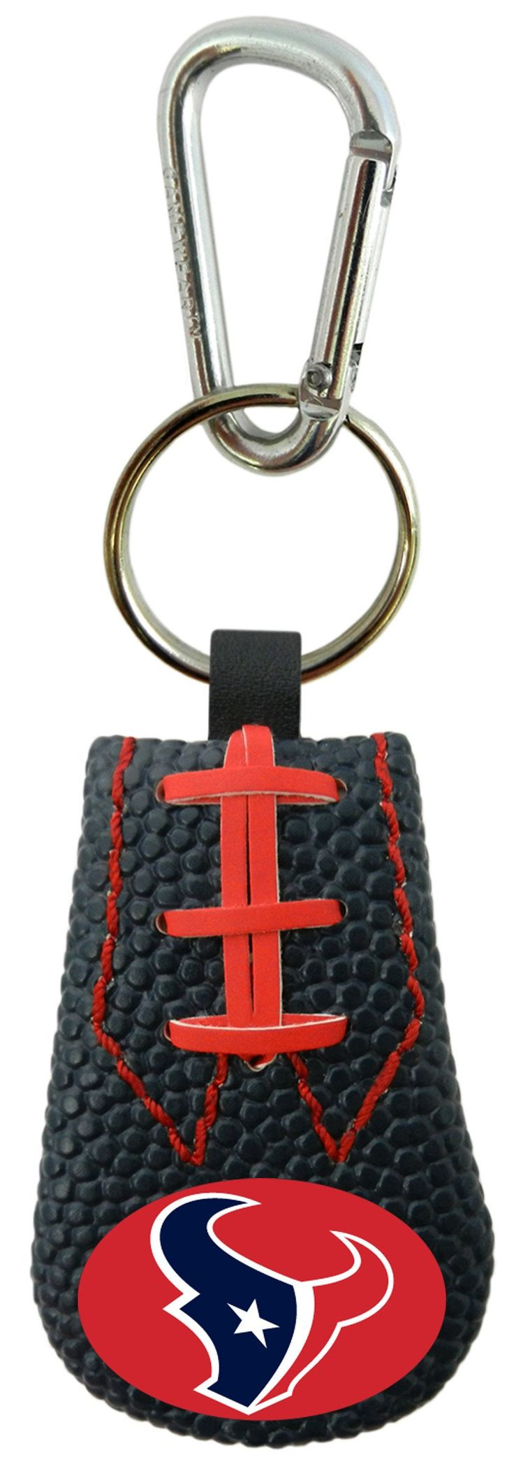 Houston Texans Team Color Football Keychain