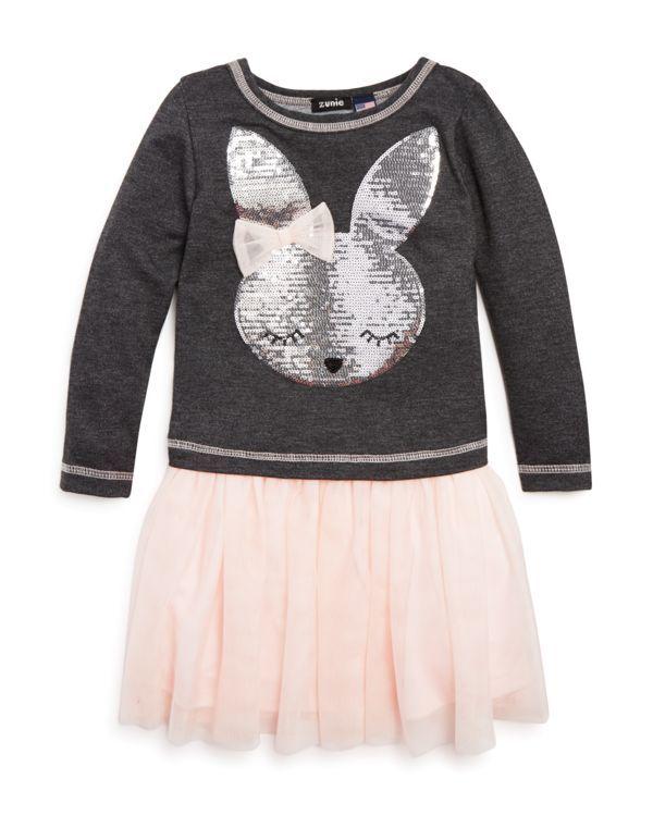 Zunie Girls' Bunny Applique Tutu Dress - Sizes 2-6X
