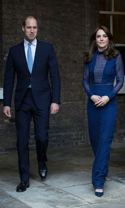 Kate Middleton stuns in Indian designer as she and Prince William welcome guests to Kensington Palace