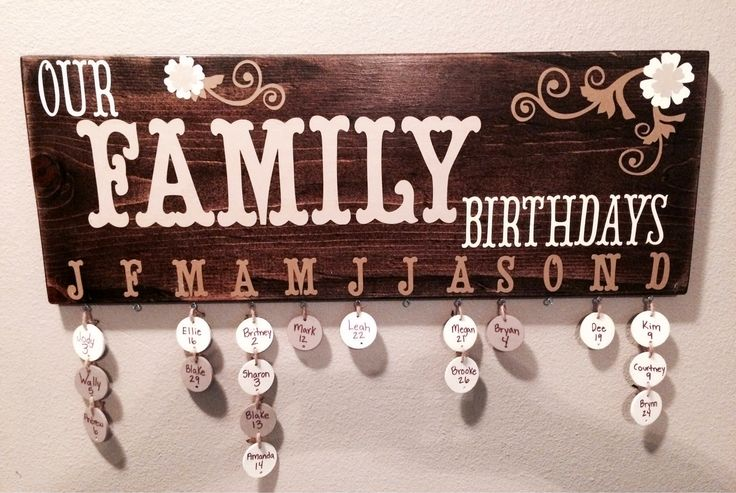 Excited to share the latest addition to my #etsy shop: Family birthday sign #housewares #homedecor #birthday #dangle #month #dates