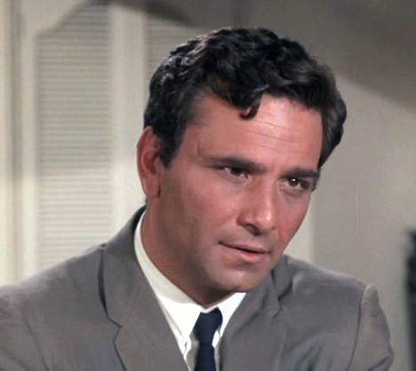 Peter Falk's first case as Lt. Columbo was the made-forTV movie PRESCRIPTION: MURDER. Gene Barry played a psychiatrist who kills his wife. The plot originated on an earlier anthology TV series and was also adapted as a stage play.