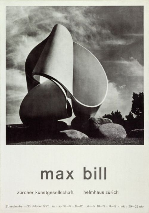 Helmhaus Zurich / Max Bill / Poster / 1957