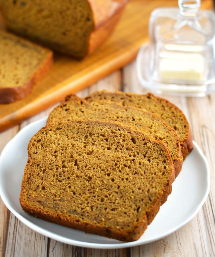Pumpkin banana bread stays perfectly moist with no oil or butter!