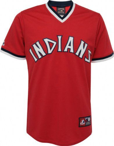 MLB Majestic Cleveland Indians Cooperstown Throwback