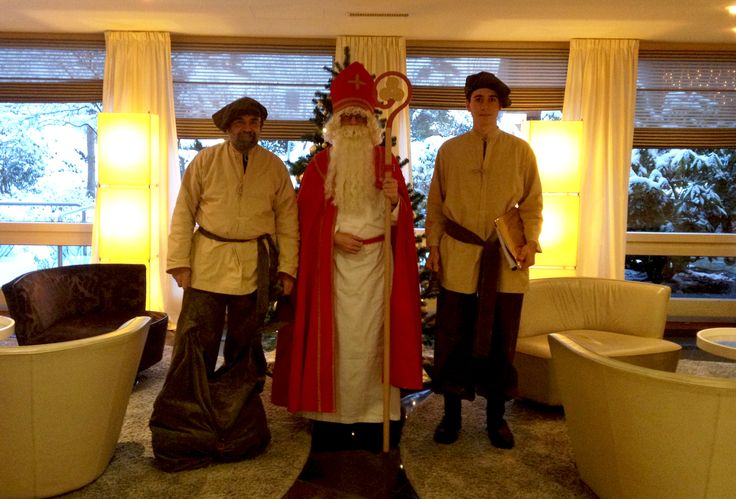 "#movenpickXmas at Mövenpick Hotel Egerkingen. Where is the christmas tree? Right behind ""Samichlaus""and the two ""Schmutzlis"". ;-)"
