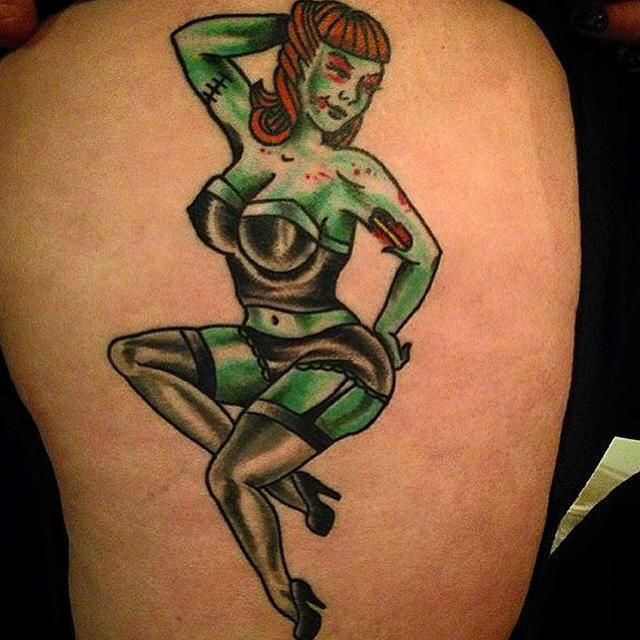 25+ Best Ideas About Zombie Girl Tattoos On Pinterest