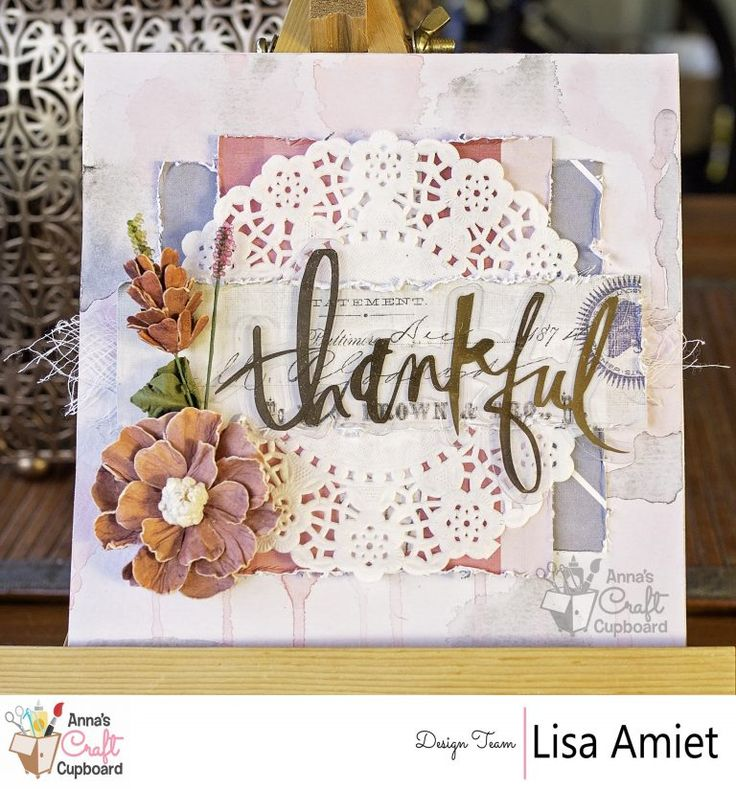 Heidi Swapp's stunning Magnolia Jane collection with it's floral and gold features, represents all things elegant.  Lisa Amiet recently got creative with the range and here we have our final reveal which is another card titled 'Thankful' … all the gorgeous details are over on Anna's blog now!