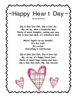 here is one february poemsong freebie thats part of my february poems and songs preschool - Preschool Valentine Songs