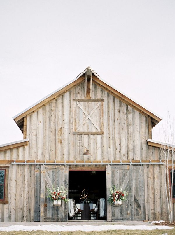 Snowy Winter Barn wedding    #weddings #weddingideas #aislesociety  #winterwedding