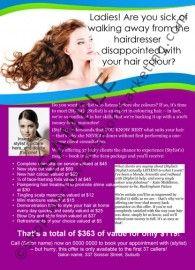 25 best salon marketing templates hair cut colour images - Salon marketing digital ...