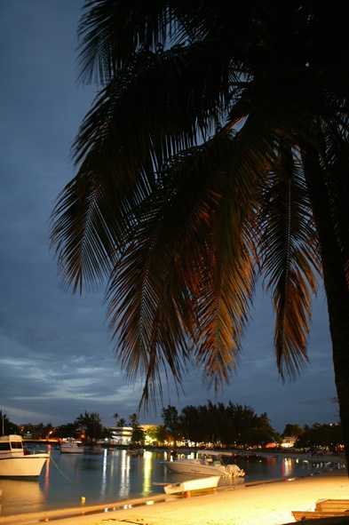 Grand Bay by night, Mauritius