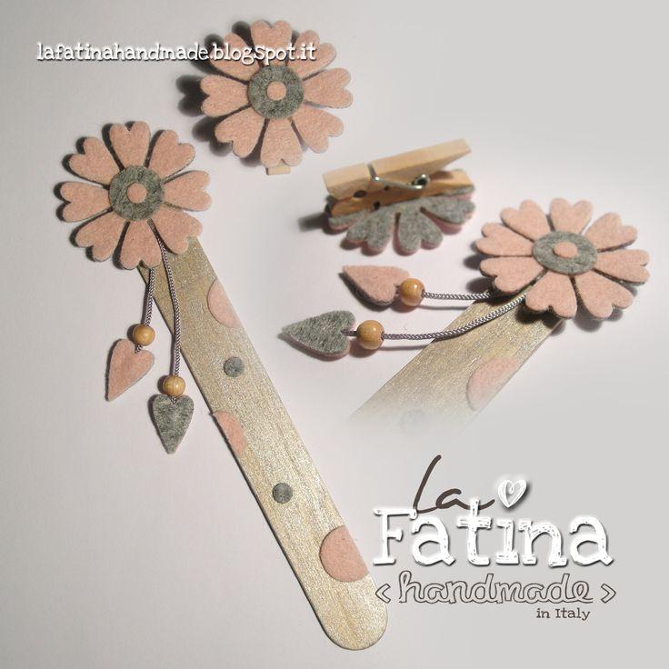 Segnalibro in legno e feltro