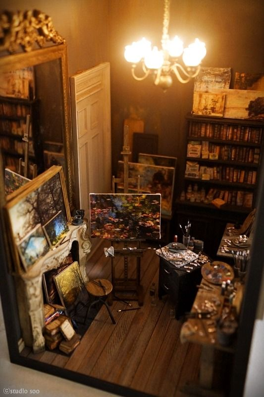 Mini atelier. – Studio Soo   ---Click on link to see the amazing detail captured in this art studio...love it.---JT (always in my own words)