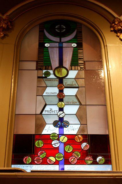 St Michael's Uniting Church, Melbourne, Australia. Window No 10: The Seekers.